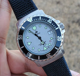 1990s Zodiac Vintage Divers 36mm Grey Dial Black Bezel Men's Watch