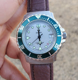 Zodiac Divers 1990s 36mm Green Bezel Vintage Men's Watch