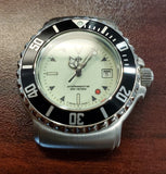 Zodiac Vintage 1990s Red Dot Luminous Dial Black Bezel Divers 30mm Unisex Watch