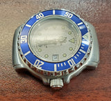 Zodiac Vintage 1990s Grey Dial Blue Bezel Divers 30mm Unisex Watch