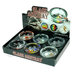 GLASS ASHTRAY 6 PCS SET-BOX