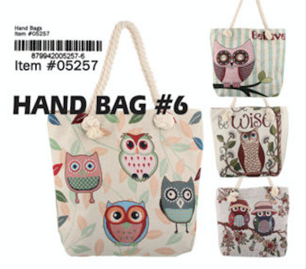 05257-HANDBAG#6(OWL, 12 PCS IN A UNIT)