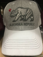 CAP-CALIFORNIA BEAR-WHITE
