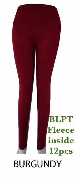 BLPT BURGUNDY-BRUSHED PANTS(12 PCS IN A PACKAGE)