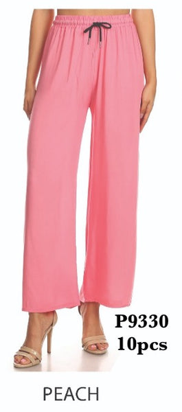 P9330 PEACH-SOLID WHITE PANTS(10 PCS IN A PACKAGE)