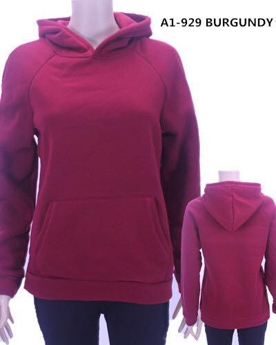 A1-929 BURGUNDY WINTER HOODIE(6 PCS, MIXED SIZES)
