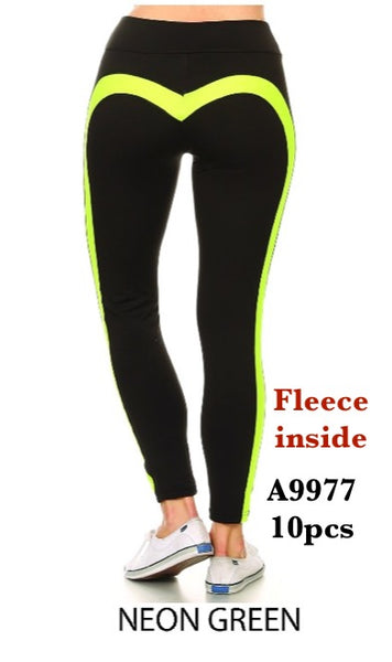 A9977 NEON GREEN-WOMENS ACTIVE PANTS(10 PCS IN A PACKAGE)