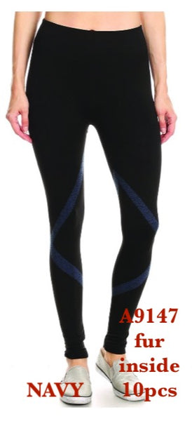 A9147 NAVY-LEGGINGS INSIDE FUR(10 PCS IN A PACKAGE)