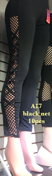 A17 BLACK NET LEGGINGS (10 PCS)