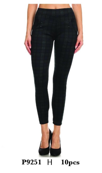 P9251 H-WOMENS CHECK PANTS(10 PCS IN A PACKAGE)