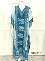 919-RAYON PRINTED KAFTAN-ASSORTED 4 PRINT(48 PCS)-BOX