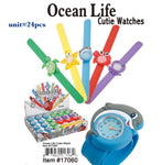 17060-SLAP WATCHS SEA LIFE CUTIES(24 PCS IN A BOX)-BOX