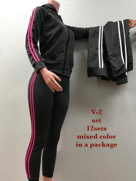 V-2 SET WHITE AND PINK (A12 SETS PER PKG)