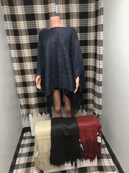201488-PONCHO(6 PCS, 1 SIZE, MIXED COLORS)