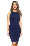 DRS004-NAV-Crew Neckline Bodycon(6 PCS IN A PACKAGE)