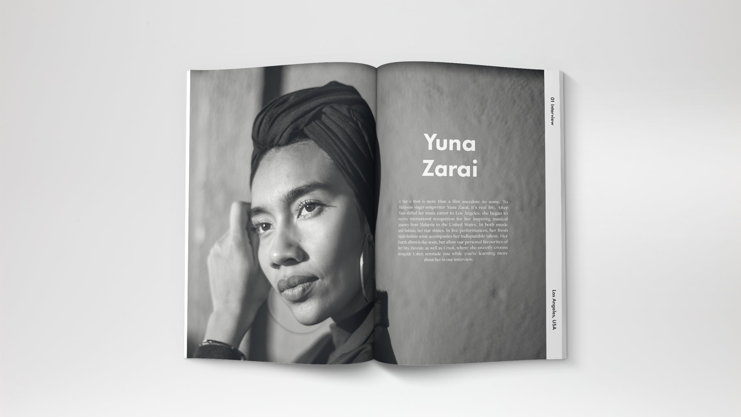 A travel magazine based in Kuala Lumpur Malaysia. An Interview with Yuna Zarai, a singer from Malaysia. Yuna Zarai now lives in Los Angeles with her husband, a producer Adam Sinclair.
