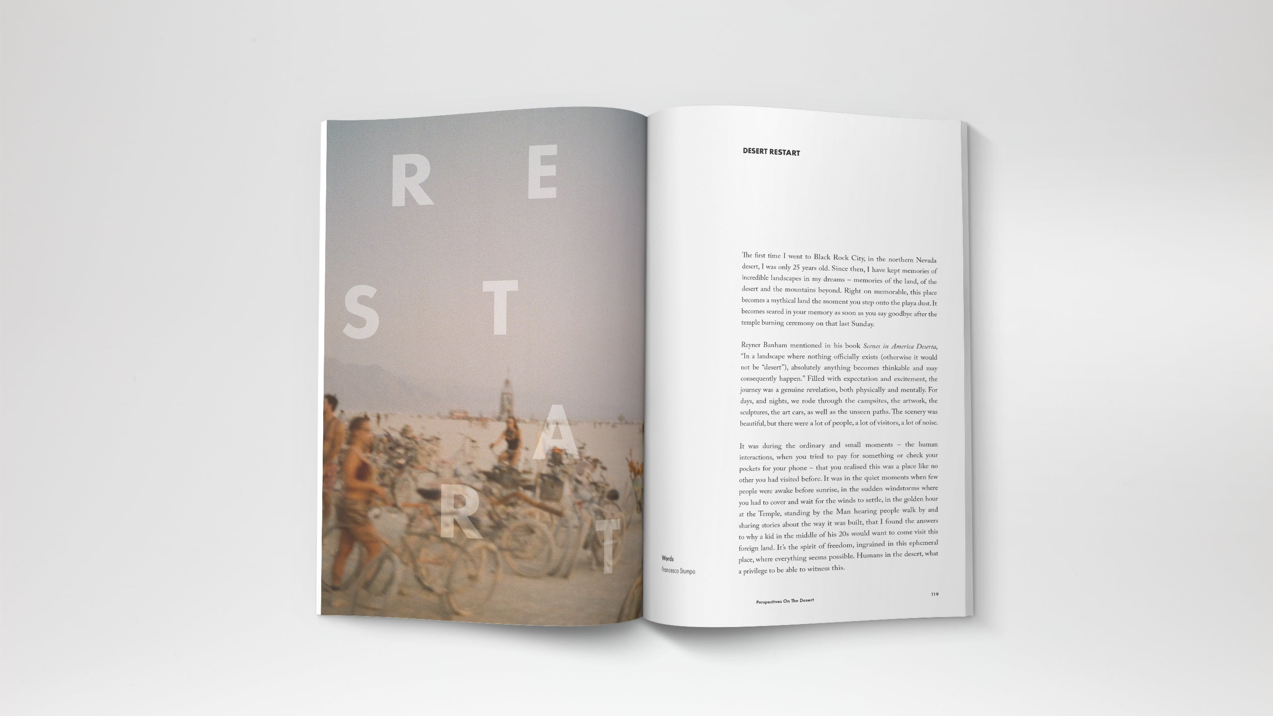 A travel magazine based in Kuala Lumpur Malaysia. Story from Burning Man experience in Nevada.