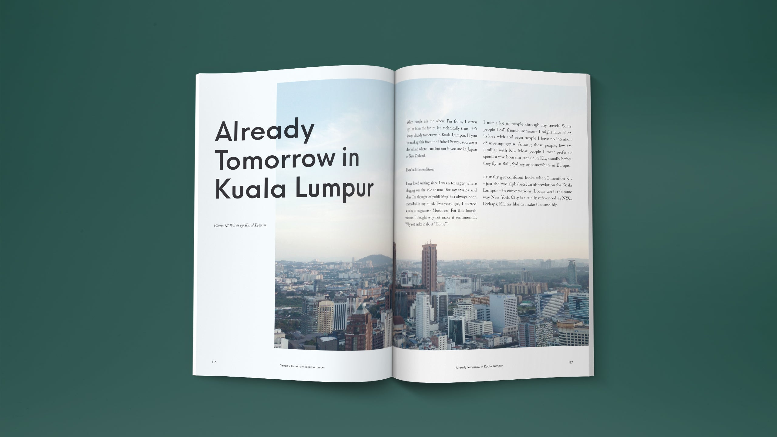travel magazine in Malaysia. story about Kuala Lumpur. mobile photography series by Kerol Izwan