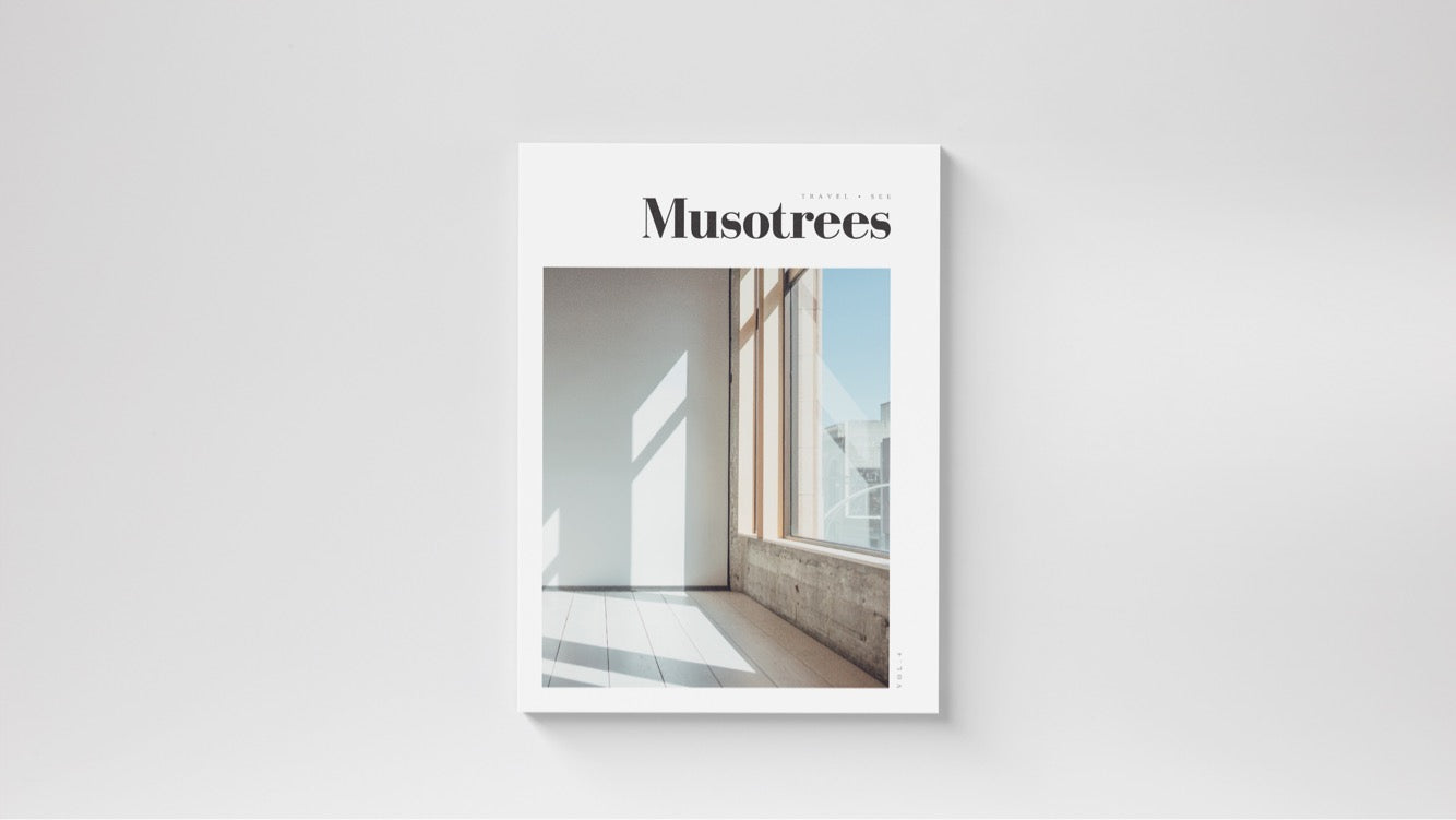 travel magazine and home lifestyle. story about minimal interior design