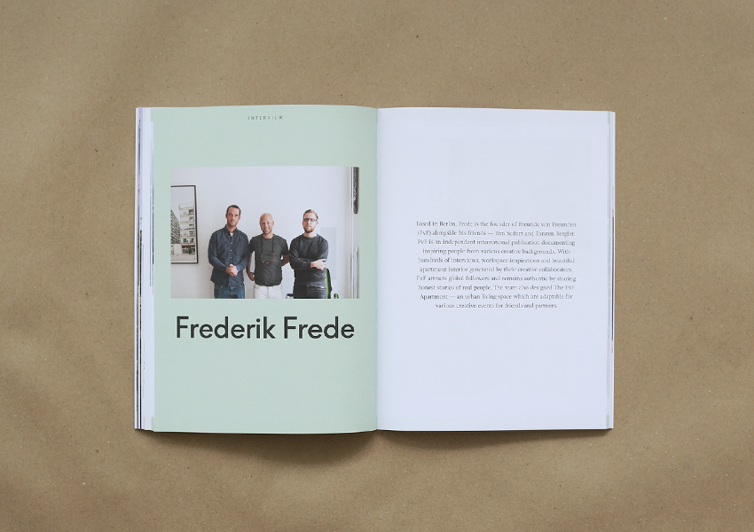 travel magazine with clean and minimal design. travel magazine published in Malaysia. Photography by Robert Rieger Berlin photographer at Freunde von Freunden. interview with Frederik Frede