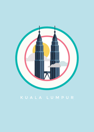 Cloudy KLCC Poster