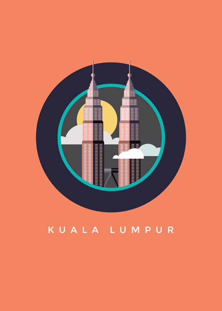 Burnt Orange KLCC Poster