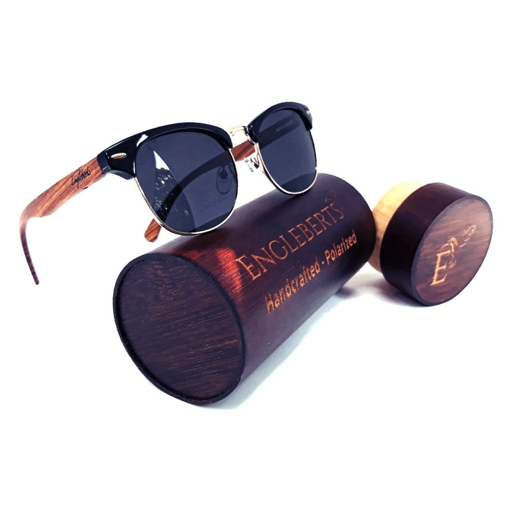 Handcrafted Walnut Wood Club Style Sunglasses
