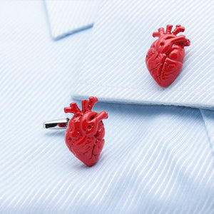 Anatomical heart cufflinks for cardiac specialists Products Doctors Nurses love Surgerise Specialist Shop