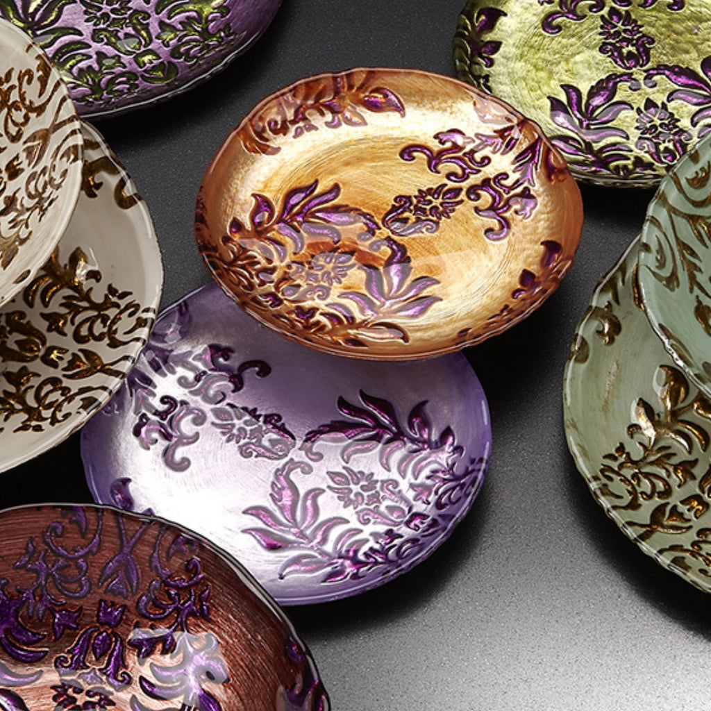 Enhance the beauty of your home with damask canape plates