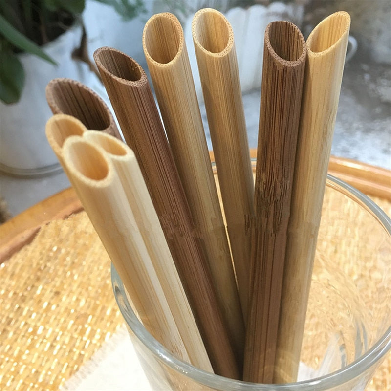 Large Pointed Bamboo Straws