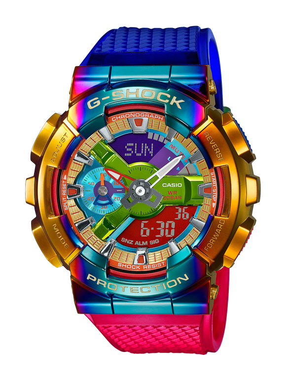 G-Shock GM110RB-2A Multi Colour Rainbow Watch