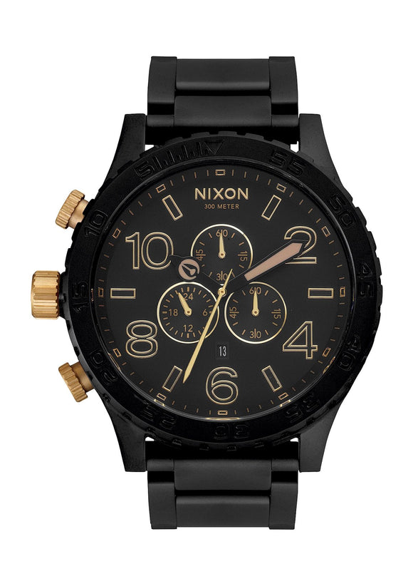 Nixon 51-30 Chrono - Matte Black / Gold