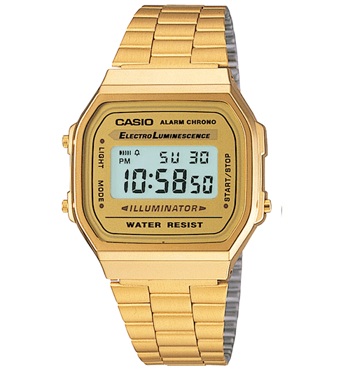 CASIO VINTAGE DIGITAL WATCH A168WG-9VT