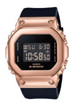 Women's G-Shock Black Strap Rose Gold Face