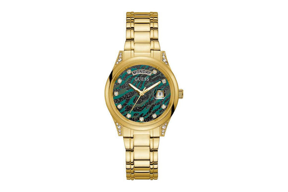 Guess Women's Aura Gold Bracelet Watch GW0047L3