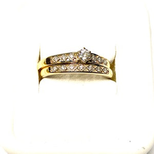 9ct. Gold 2 Rings Set