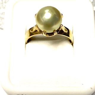 9ct. Gold Yellow Pearl Ring