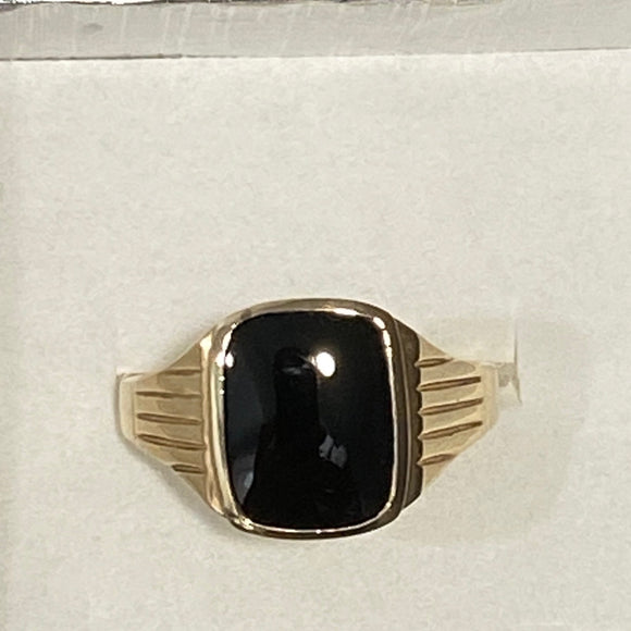 9ct. Gold Men's Onyx Ring