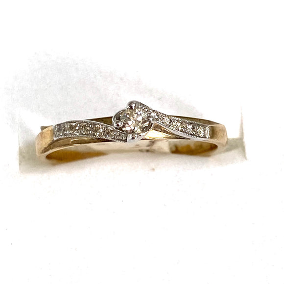 9ct. Gold Diamond Ring