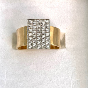 9ct. Gold CZ Multi Stone Ring