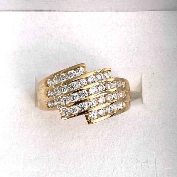 9ct. Gold CZ Stone Designer Ring