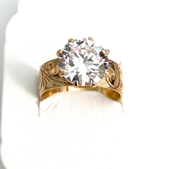 9ct. Gold Hawaiian Ring