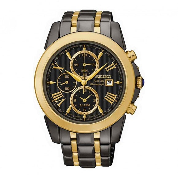 SSC218P SEIKO LE GRAND SPORT GOLD SOLAR CHRONOGRAPH WATCH