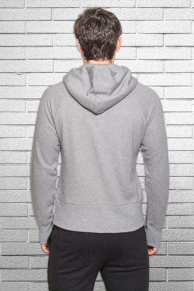 Monkey Sox Slim Fit Bamboo Hoodie in Stripe back view