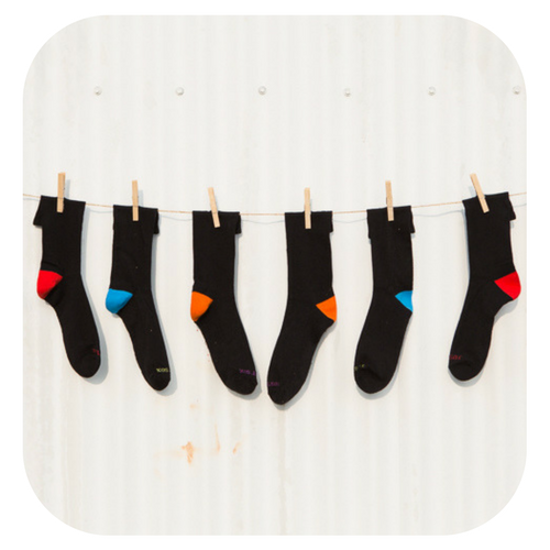 Black Bamboo Dress Socks - Packs of 5 or 10.