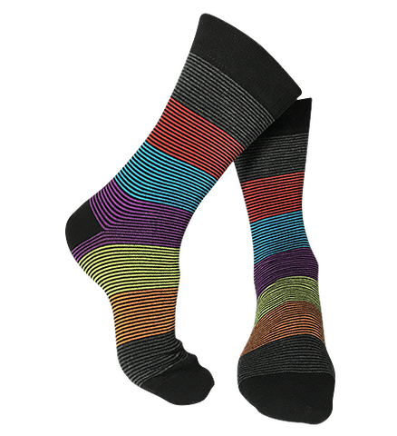 mini stripe colourful novelty bamboo sock
