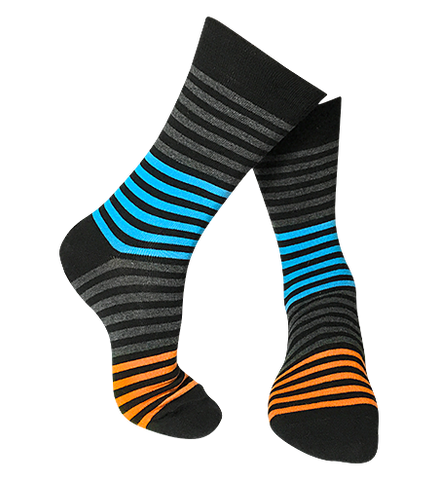 multi stripe colourful novelty bamboo socks at our online sock store