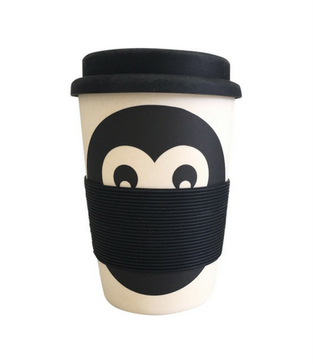 Eco friendly reusable bamboo keep cup.