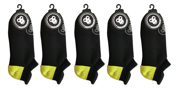 5 pack of black bamboo sports socks