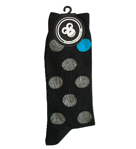 spot design bamboo sock